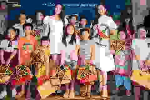 Hoa hậu Tiểu Vy, Lương Thuỳ Linh đón trung thu cùng trẻ em có hoàn cảnh khó khăn