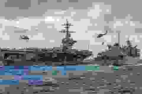 Tổng thống Trump muốn tập hợp 55 tàu chiến ở vùng Vịnh