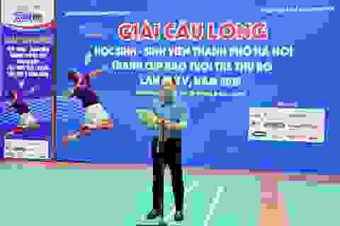 Chuẩn bị tranh tài giải cầu lông học sinh - sinh viên TP Hà Nội mở rộng
