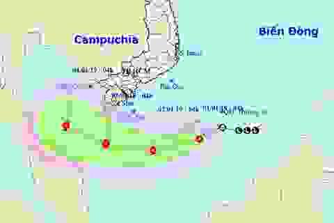 Áp thấp nhiệt đới khả năng thành bão, đi sâu xuống phía Nam