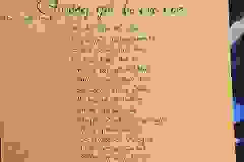 Xúc động bài thơ gửi bố ở Trường Sa của nữ sinh lớp 8
