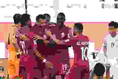 Đội tuyển Qatar hạ Triều Tiên với tỷ số kiểu tennis
