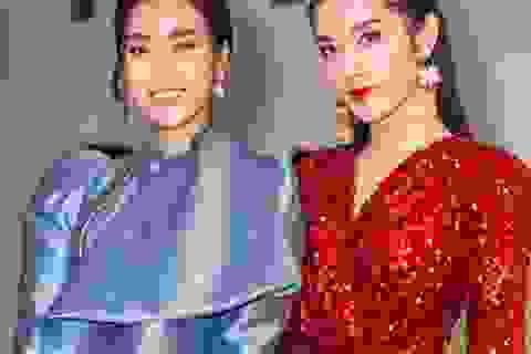 """Á hậu Huyền My gợi cảm """"đọ dáng"""" cùng Hoa hậu Mỹ Linh"""