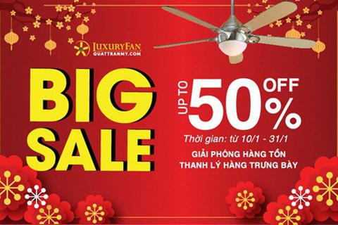 Nhận ngay ưu đãi lên tới 50% khi mua các sản phẩm quạt trần Mỹ tại Luxury Fan