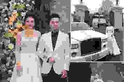 """Cô dâu đeo vàng """"trĩu cổ"""" ở lâu đài Nam Định: """"Bố mẹ cho 200 cây vàng và 2 bìa đỏ"""""""