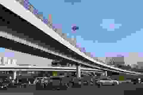 """Thông xe cầu vượt chữ N """"giải cứu"""" sân bay Tân Sơn Nhất"""