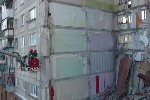 Chung cư Nga tan hoang như bãi chiến trường sau vụ nổ khiến 31 người chết