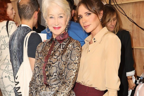 Helen Mirren hết lời khen ngợi Victoria Beckham