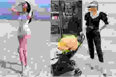 Á hậu Thanh Tú diện áo tắm khoe vóc dáng nuột nà sau khi sinh con