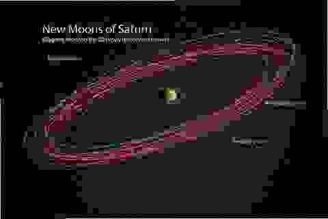 Sao Thổ chính thức trở thành hành tinh có nhiều vệ tinh nhất