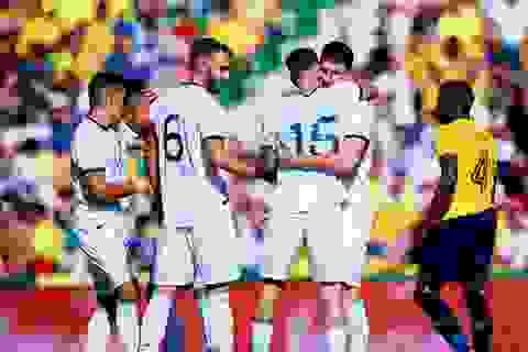 """Vắng Messi, Argentina vẫn dội """"mưa bàn thắng"""" vào lưới Ecuador"""