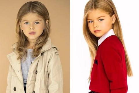 """Bé gái Nga được mệnh danh là """"cô bé xinh đẹp nhất thế giới"""""""