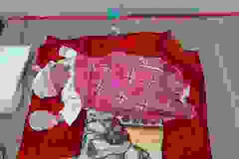 Vĩnh Long: Bé gái sơ sinh bị bỏ rơi dưới chân tượng phật