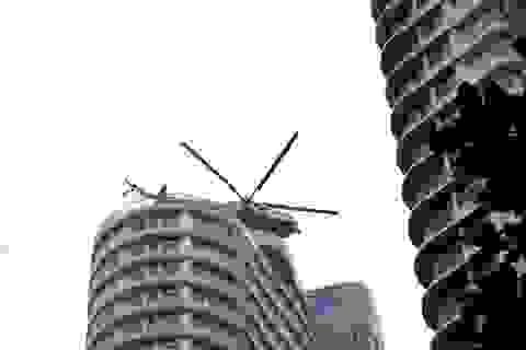 Trực thăng tham gia diễn tập phòng cháy chữa cháy ở Đà Nẵng