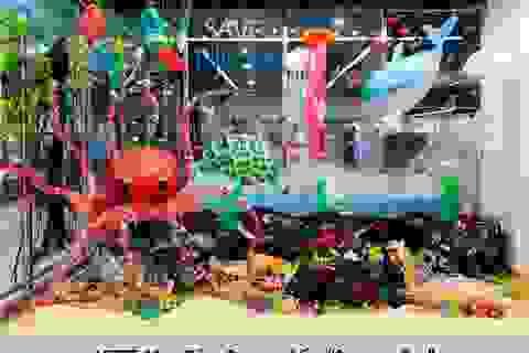 """Tác phẩm sáng tạo mang tên """"rác thải nhựa""""!"""