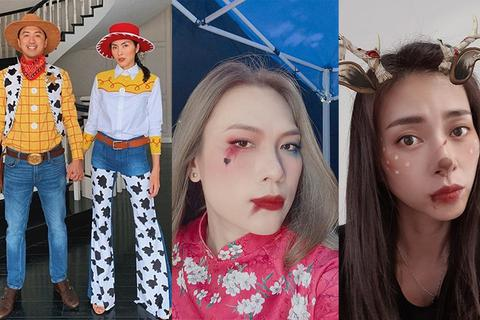 Mỹ Tâm, Ngô Thanh Vân tưng bừng đón Halloween