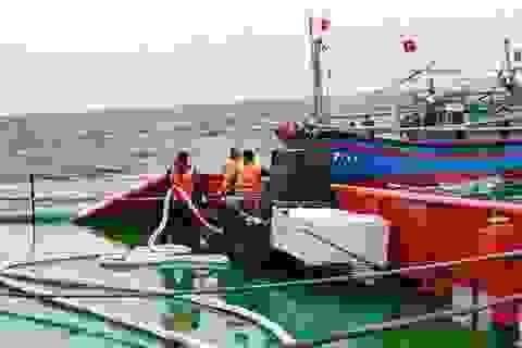 Cứu kịp thời 9 ngư dân gặp nạn trên biển