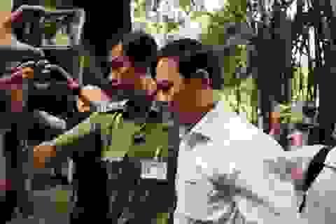 Bị cáo Nguyễn Hữu Linh được che chắn khi tới tòa