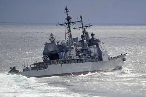Mỹ điều tàu chiến mang tên lửa dẫn đường đi qua eo biển Đài Loan