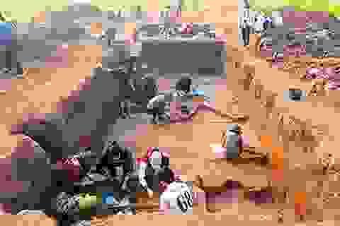 Phát hiện nạn đào trộm cổ vật công khai ở di chỉ Vườn Chuối