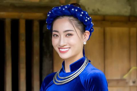 Hoa hậu Lương Thùy Linh xinh đẹp trong hình ảnh thiếu nữ dân tộc Tày
