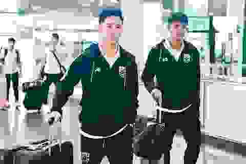 Đội tuyển Thái Lan tập kín ngay sau khi tới Hà Nội
