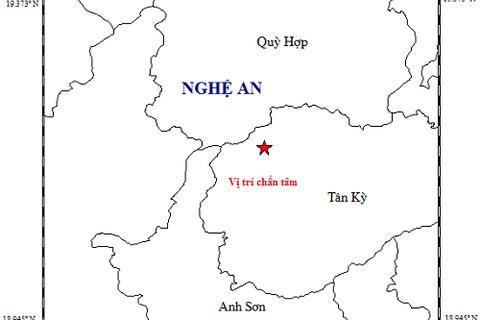 Động đất 4,2 độ tại miền Tây Nghệ An