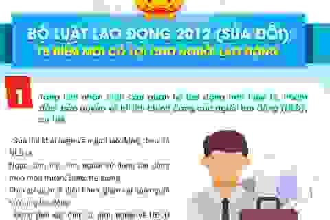 Infographics: Luật Lao động sửa đổi với 15 điểm mới có lợi cho người lao động
