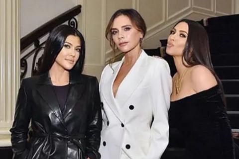 Victoria Beckham gặp chị em cô Kim trong sự kiện
