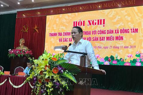 """""""Hồ sơ thu hồi đất, giải phóng mặt bằng ở Đồng Tâm được lưu giữ rất tốt"""""""