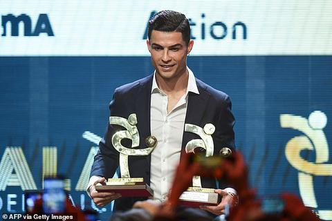 Hụt Quả bóng vàng, C.Ronaldo nhận giải thưởng an ủi