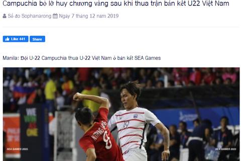 Báo Campuchia tiếc vì đội nhà... lỡ huy chương vàng
