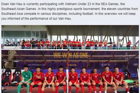 CLB Heerenveen chúc mừng Văn Hậu và U22 Việt Nam lọt vào chung kết