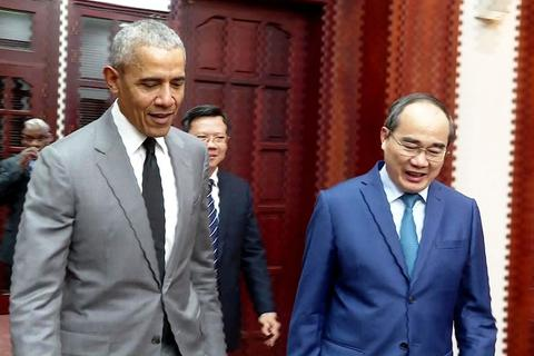 Cựu Tổng thống Hoa Kỳ Barack Obama bất ngờ trở lại TPHCM