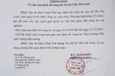 Giám đốc Bệnh viện Xanh Pôn lên tiếng về nghi vấn gian lận xét nghiệm HIV, viêm gan B tại bệnh viện