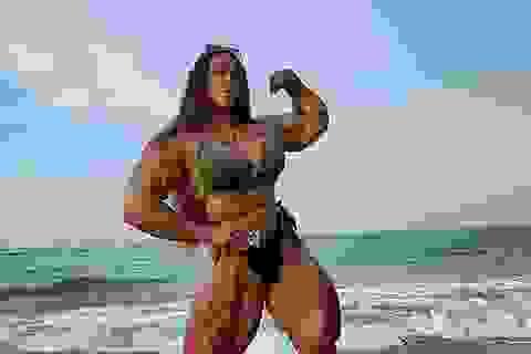 Hình ảnh nữ vận động viên sở hữu cơ bắp... cuồn cuộn gây sốc với cộng đồng mạng