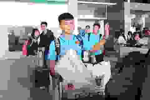 U23 Việt Nam về đến TPHCM sau chuyến tập huấn tại Hàn Quốc