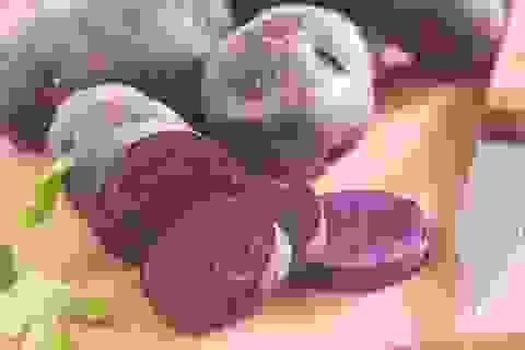 Bất ngờ với công dụng phòng ung thư, giảm huyết áp của khoai tây tím