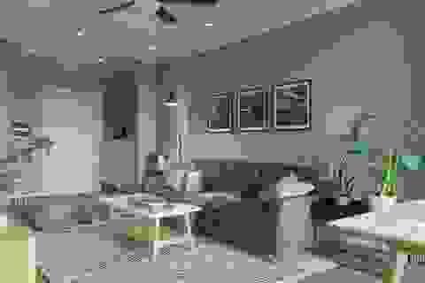 Căn hộ một phòng ngủ sở hữu gam màu xanh mát mẻ