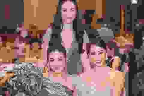 Hoa hậu Tiểu Vy, Á hậu Tú Anh rạng rỡ bên vợ Tuấn Hưng