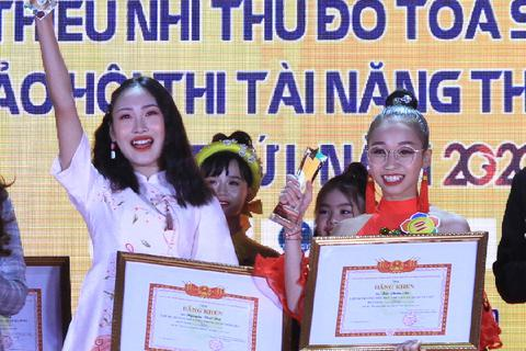 """Hai nữ sinh giành giải Nhất hội thi """"Tài năng thiếu nhi Thủ đô"""""""