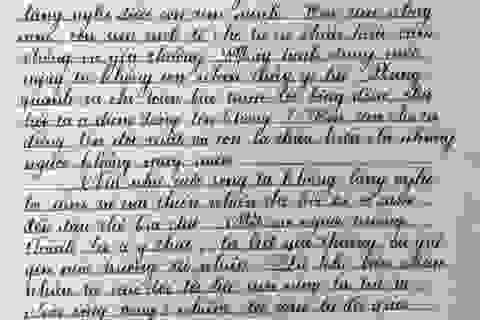 Nét chữ đẹp như mơ của học sinh TPHCM
