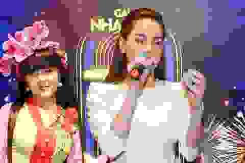 Hồ Ngọc Hà ngại ngùng khi hát lô tô cùng đoàn nghệ sĩ chuyên nghiệp