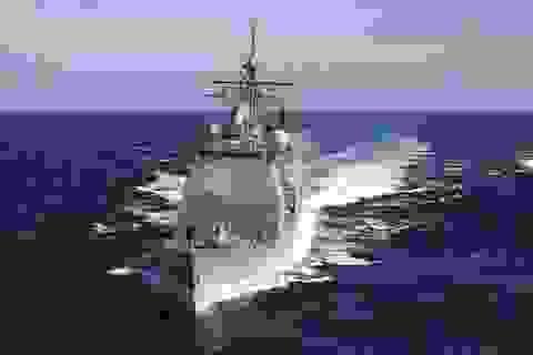 Mỹ điều tàu chiến qua eo biển Đài Loan giữa lúc căng thẳng
