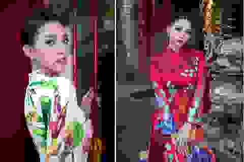 Hoa hậu Tiểu Vy khoe sắc trong tà áo dài đón Tết