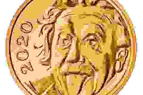 Chết cười xem Einstein lè lưỡi trên đồng vàng nhỏ nhất thế giới