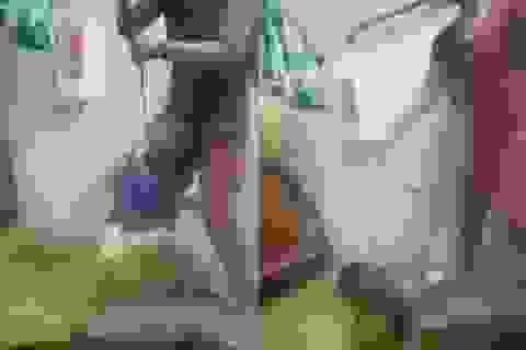 Tạm giữ người mẹ cột dây vào cổ con trai, bạo hành dã man