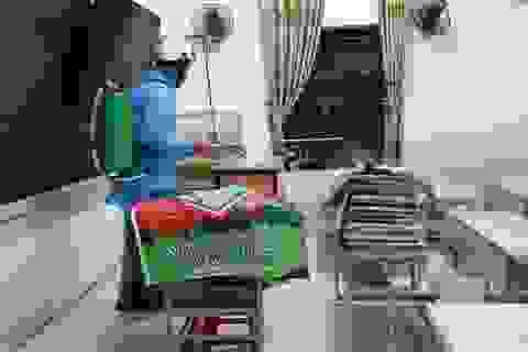 TP Thanh Hóa: Hàng loạt trường học gấp rút phun tiêu độc khử trùng