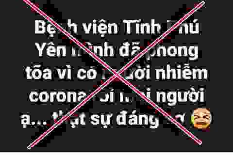 Truy tìm nhiều Facebooker tung tin thất thiệt về dịch bệnh corona