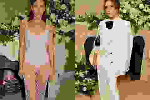 Tình cũ Ronaldo diện váy xuyên thấu đọ dáng Victoria Beckham